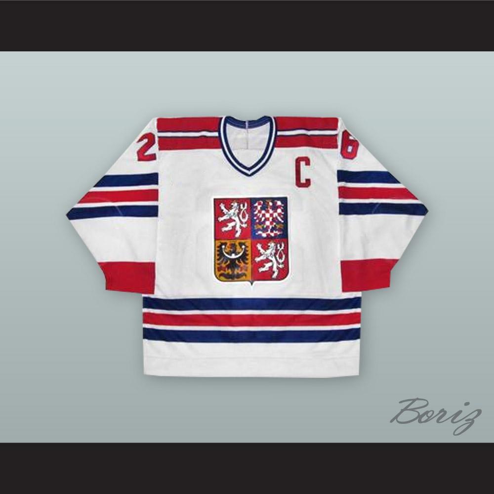 Robert Reichel 26 Czech Republic National Team White Hockey Jersey 139c4a995