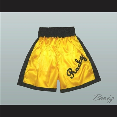 Rocky Balboa Gold Boxing Shorts All Sizes