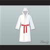 Rocky Balboa White Satin Full Boxing Robe with Hood