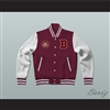 Bayside Tigers Maroon Varsity Letterman Jacket-Style Sweatshirt Saved By The Bell