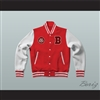 Bayside Tigers Red Varsity Letterman Jacket-Style Sweatshirt Saved By The Bell