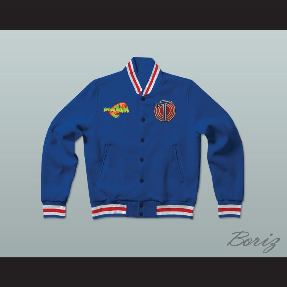 f2bba30e66b559 Michael Jordan Space Jam Tune Squad Blue Letterman Jacket-Style ...
