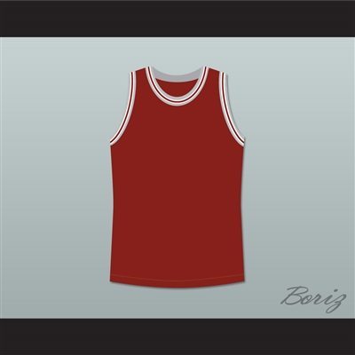 Philip Seymour Hoffman Sandy Lyle Along Came Polly Dark Red Basketball Jersey