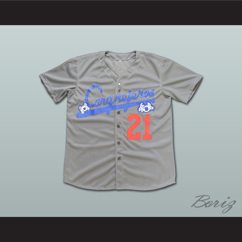 reputable site 73640 770aa Roberto Clemente 21 Santurce Crabbers Puerto Rico Baseball Jersey All Sizes