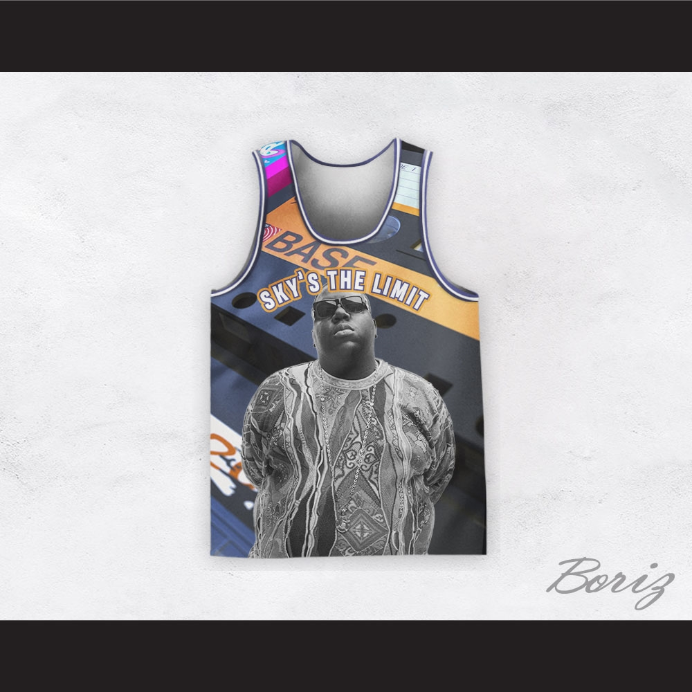 Biggie Smalls 21 Sky's The Limit Mixtape Basketball Jersey