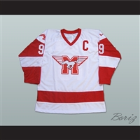 Derek Sutton Hamilton Mustangs Hockey Jersey Youngblood Movie Patrick Swayze