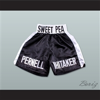 Pernell 'Sweet Pea' Whitaker Black Boxing Shorts
