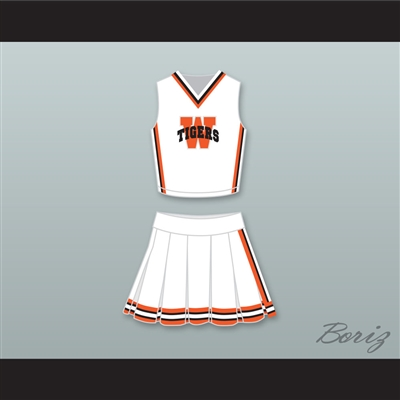 Jennifer Lawrence Norah White Plains Tigers High School Cheerleader Uniform The Beaver