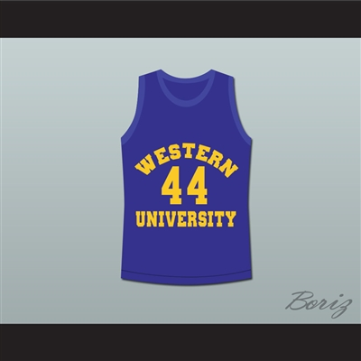 Anthony C Hall Tony the Point Shaver 44 Western University Dolphins Blue Basketball Jersey Blue Chips