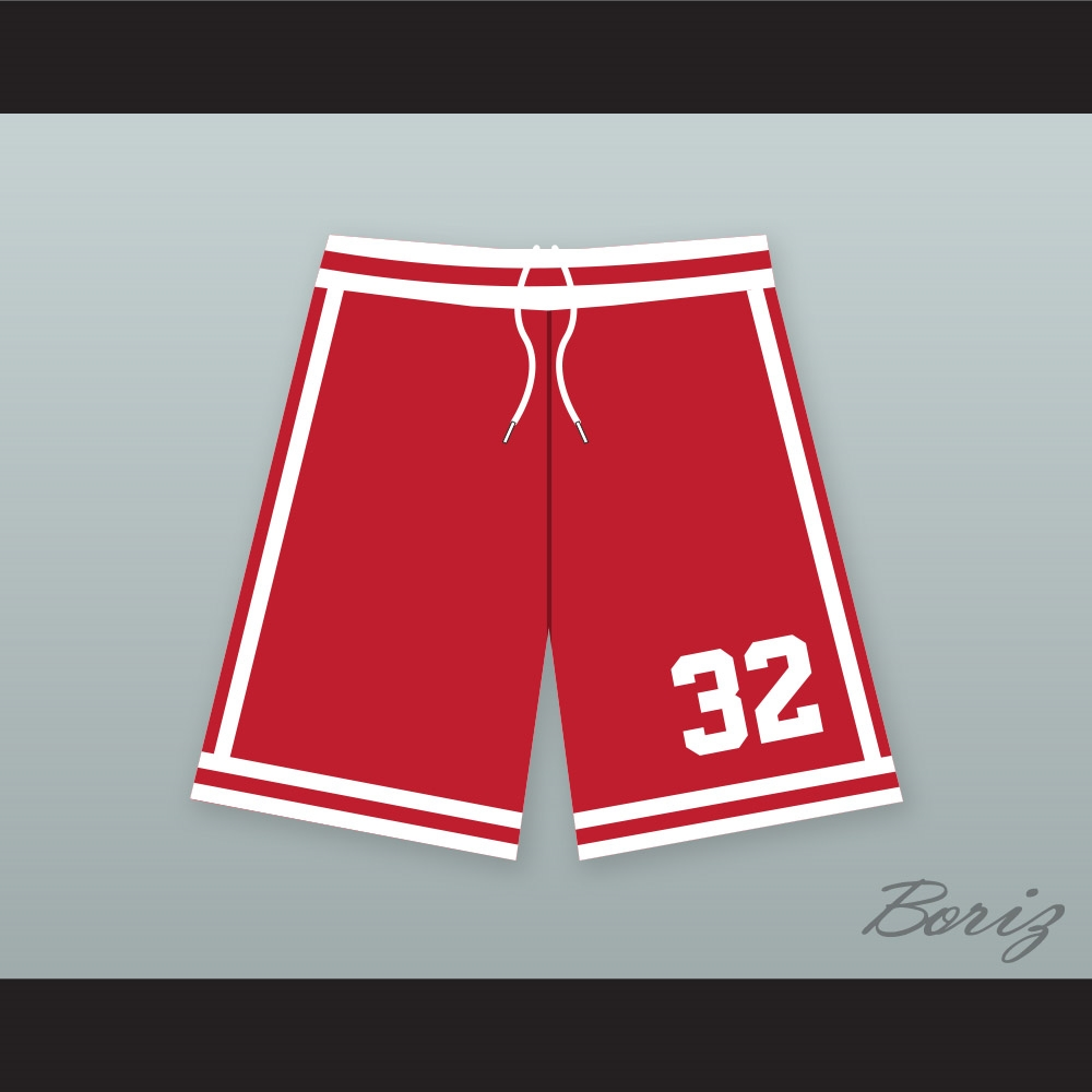 4eb91ad8b30 Ralph Tresvant 32 New Edition Red Basketball Shorts