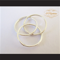 P Middleton Triple Intercross Vesica Piscis Ring Sterling Silver .925