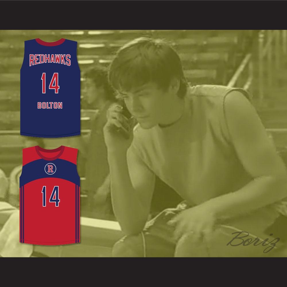 Troy Bolton 14 Albuquerque Redhawks Basketball Jersey High School Musical 2 d582f4a1b