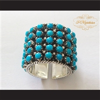 P Middleton Turquoise Sleeping Beauty Sterling Silver .925 Band Ring
