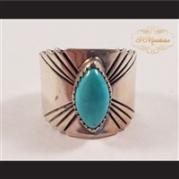 P Middleton Turquoise Sterling Silver .925 Ring