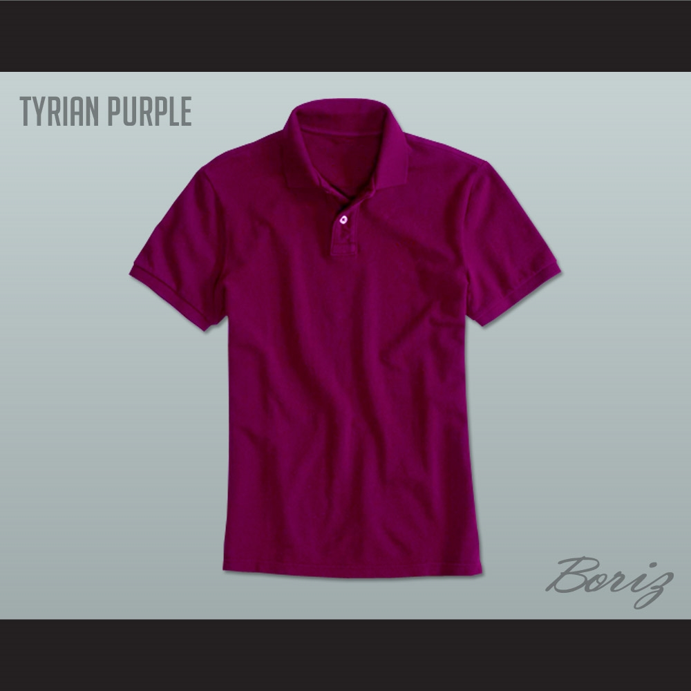 Men S Solid Color Tyrian Purple Polo Shirt