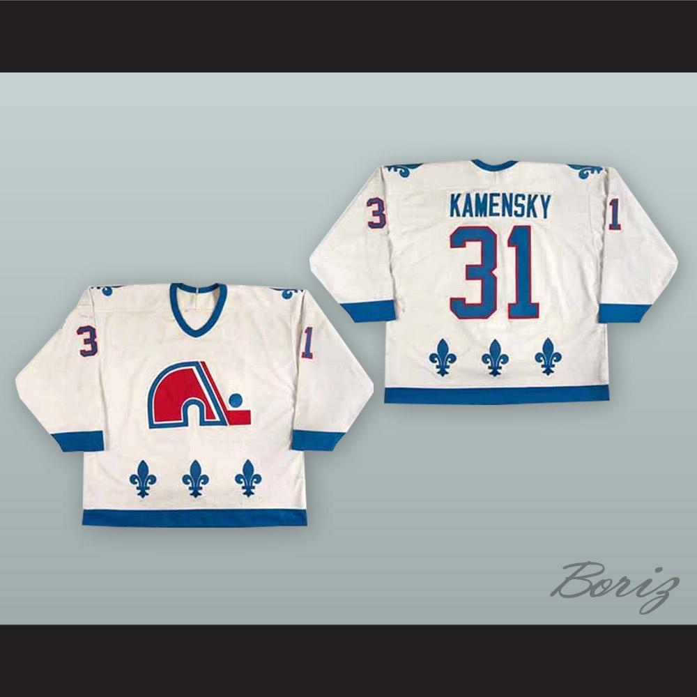 316db0ebf4c Valeri Kamensky 31 Quebec Nordiques White Hockey Jersey