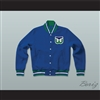 Hartford Whalers Hockey Blue Letterman Jacket-Style Sweatshirt