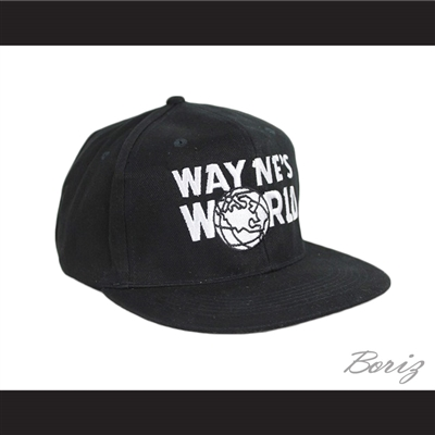 Wayne's World Hat Adjustable Black Baseball Cap