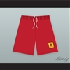 East High School Wildcats Red Basketball Shorts with Patch HSM3