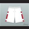 East High School Wildcats White Basketball Shorts