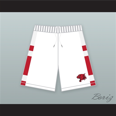 East High School Wildcats White Basketball Shorts with Patch