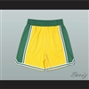Yellow Green and White Basketball Shorts