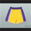 Yellow Purple and White Basketball Shorts