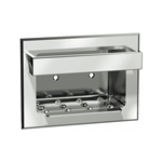 ASI 0398 Recessed Soap Dish with Bar