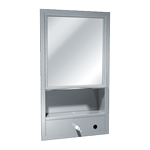 ASI 0430-9 Surface Mount All Purpose Cabinet includes Mirror, Shelves, Towel Dispenser, and Soap Dispenser