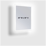 ASI 0641-3036 LED Backlight 30 x 36 Frameless Mirror