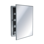 ASI 0953 Surface Mounted Medicine Cabinet with Mirror and Shelves