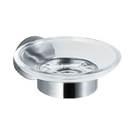 ASI 7313 Surface Mount Soap Dish with Glass Holder