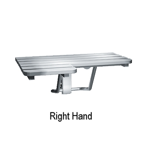 Asi 8208 R Right Hand L Shaped Folding Shower Seat