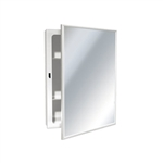 ASI 8339 Surface Mounted Medicine Cabinet with Mirror and Shelves