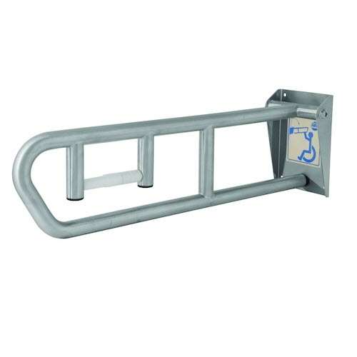 Bradley 8372 Swing Up Grab Bar With Tissue Disp