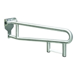 "Bradley 8372-108 30"" Safety Grip Swing Up Grab Bar with Tissue Disp"