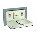 ASI 9018 Recessed Horizontal Baby Changing Station with Satin Stainless Steel Finish image