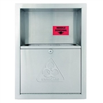 Bradley 989 Recessed Need Disposal Waste Container