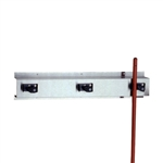 "Bobrick B-223 x 36"" Mop and Broom Holder with 3 Holders"