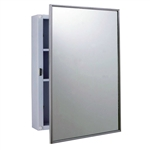 Bobrick B-297 Surface Mount Medicine Cabinet with Mirror and Shelves