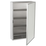 Bobrick B-299 Surface Mount Medicine Cabinet with Mirror and Shelves