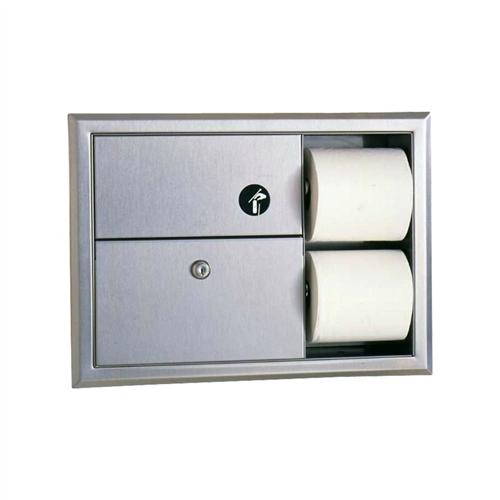 Bobrick B 3094 Recessed Toilet Paper Holder Division 10