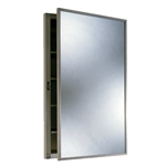 Bobrick B-398 Recessed Medicine Cabinet with Mirror and Shelves