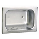 Bobrick B-4380 Recessed Soap Dish with Wall Clamp