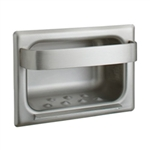 Bobrick B-4390 Recessed Soap Dish with Wall Clamp