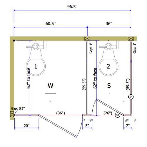Plastic Laminate Toilet Partitions Division Direct - Laminate bathroom partitions
