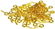 75pc gold plated screw bails 8mm