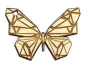 1PC  Lasercut Geometric Butterfly Pendant / Charm 68x48mm