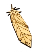 1PC  Lasercut Feather Pendant / Charm 80x22mm
