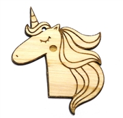 1PC  Lasercut Unicorn Pendant / Charm 89x68mm